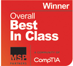 Winner Overall Best in Class from MSP Partners and CompTIA