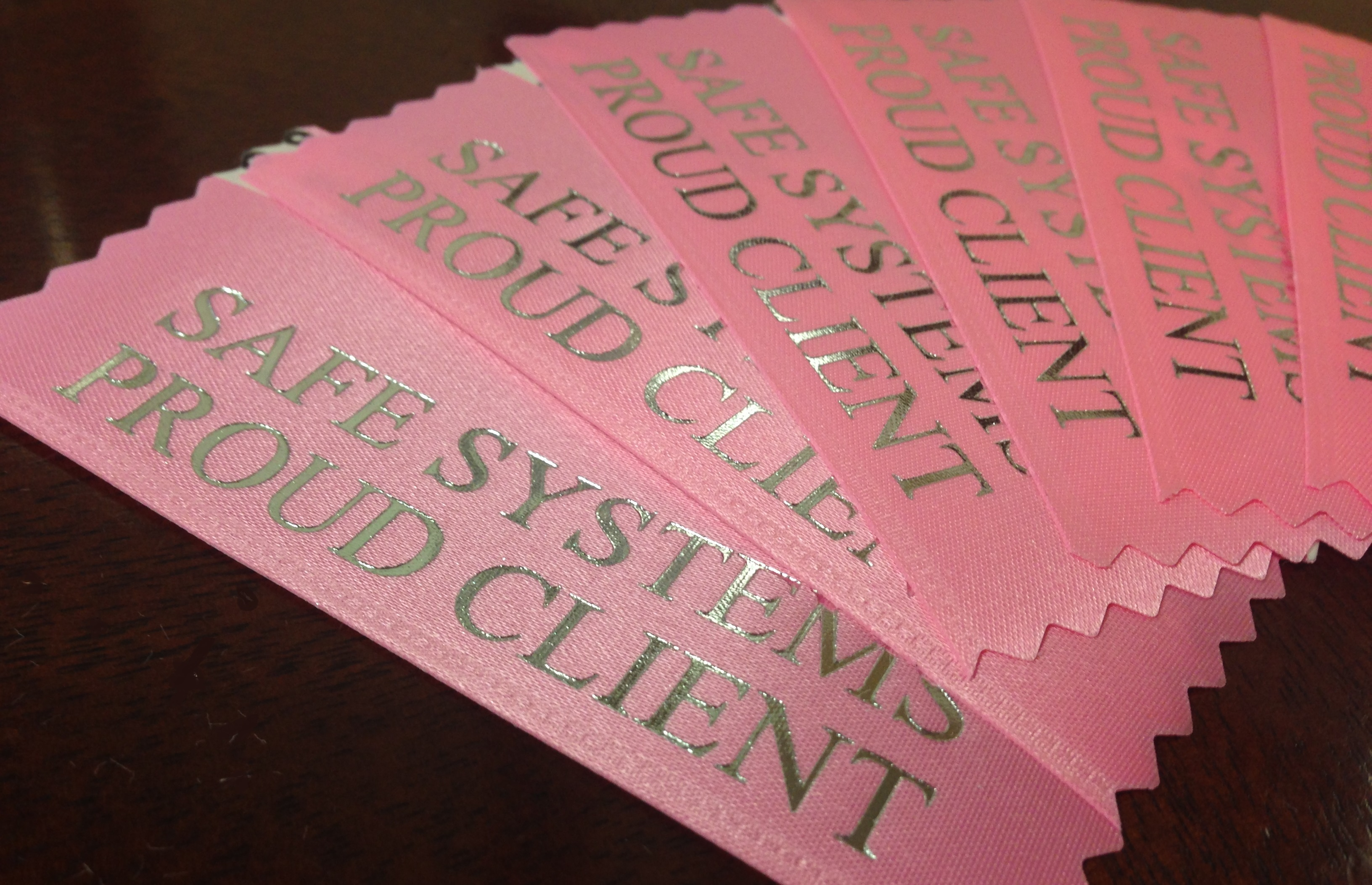 Pink Ribbons to support a Safe Systems client