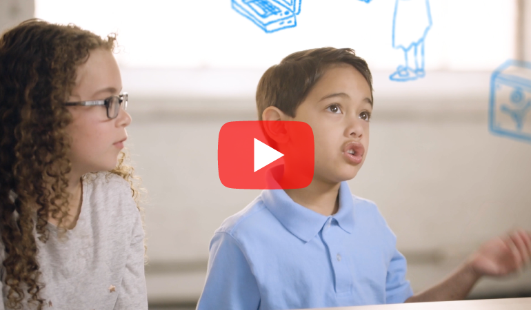Mavryck and Rosie from the Kids on Banking videos
