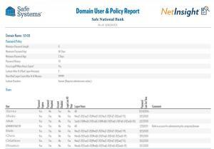 Domain User and Policy Report