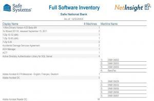 Full Software Inventory Report