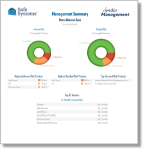 Sample Report for Vendor Management