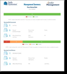Sample Report for Vendor Management